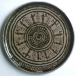 Thrown and Painted Greek Plate