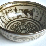 Thrown and Painted Greek Bowl