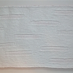 Knitted canvas after gesso