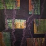 Orange on Purple. 2011. Oil paint on canvas. 72