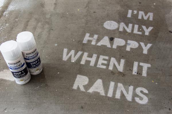 Idea No. 241: NeverWet Rain Drawing