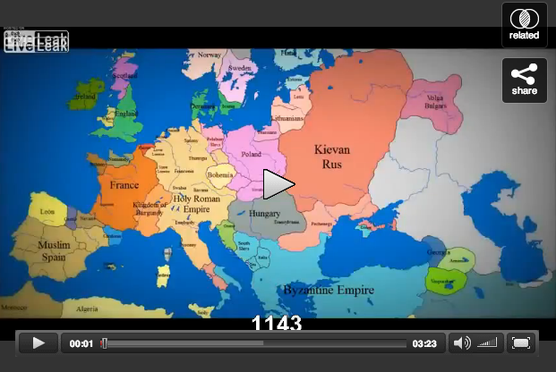 Idea No. 236: Map of Europe 1000 AD to Present Day